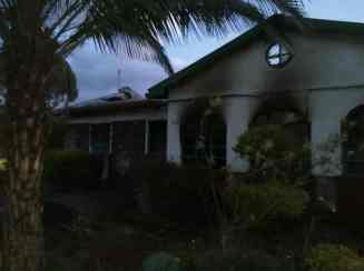 Margret's house, that was burned down yesterday