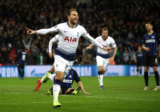 tottenham edge out inter milan