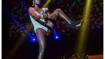 Akothee performs in London last year.