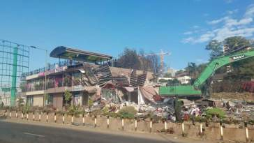 wamatangi car bazaar demolished