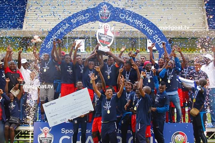 Image result for bandari win sportpesa shield