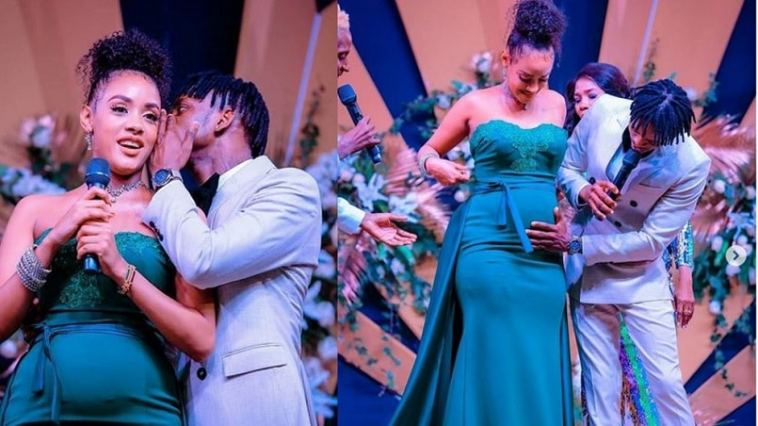 Image result for images of Diamond Platnumz and Tanasha Donna hold their baby shower