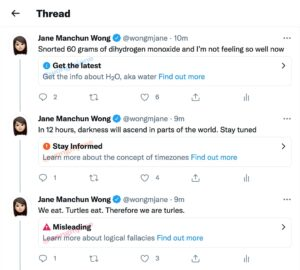 How Twitter's tiered labels work