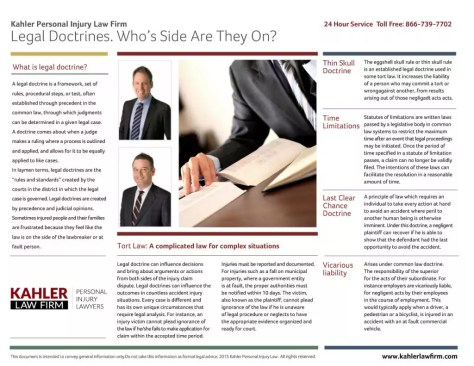 legal doctrines - personal injury - whos side are they on?
