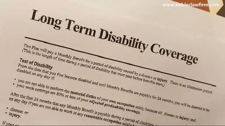 filing a disability claim