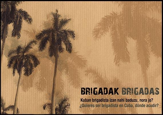 Catálogo BRIGADAS de la ONG Euskadi Cuba