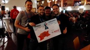 """""""Scooby-FX""""-Team auf dem Hackathon Stuttgart 2018"""