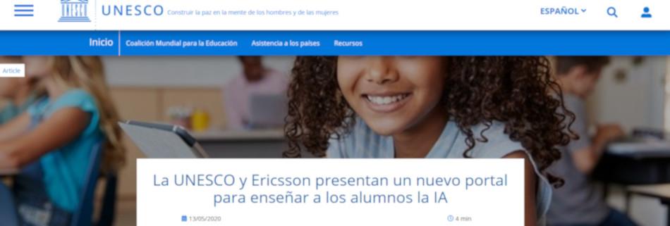 Ikasleei adimen artifiziala irakasteko UNESCO eta Ericsson-en ataria prest