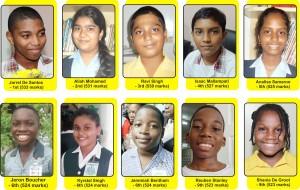 grade six 2014 - top 10
