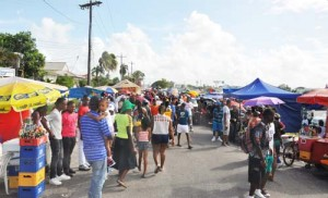 Spectators line the streets in their numbers to enjoy this year's Mash activities.