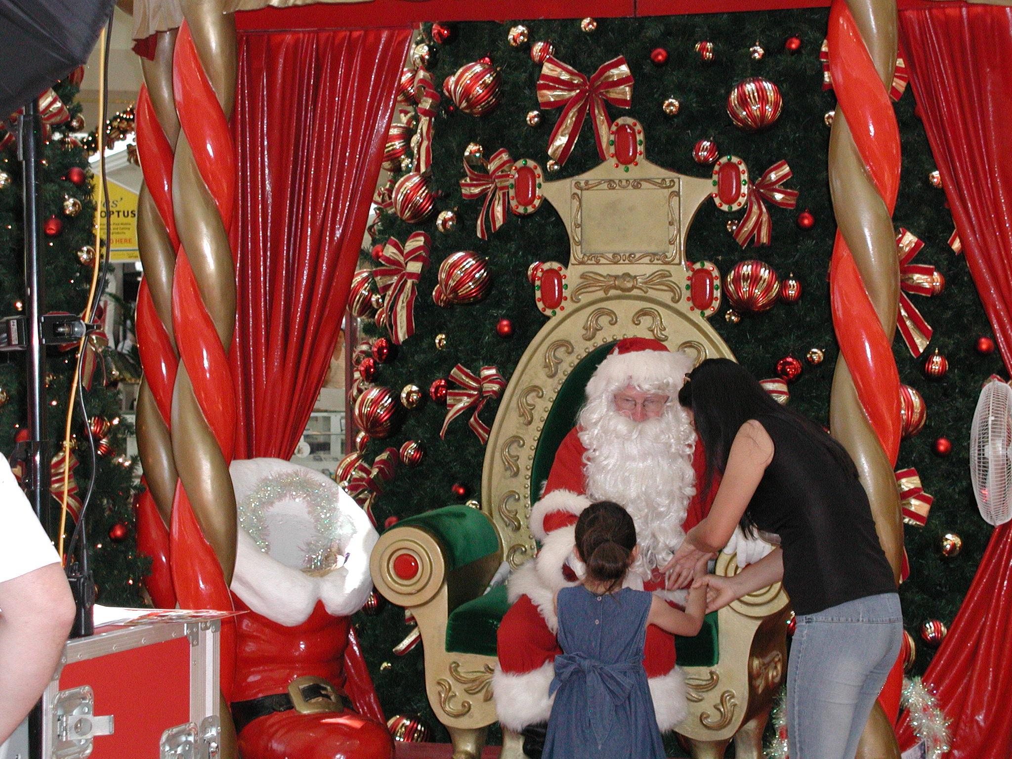 サンタとの記念撮影