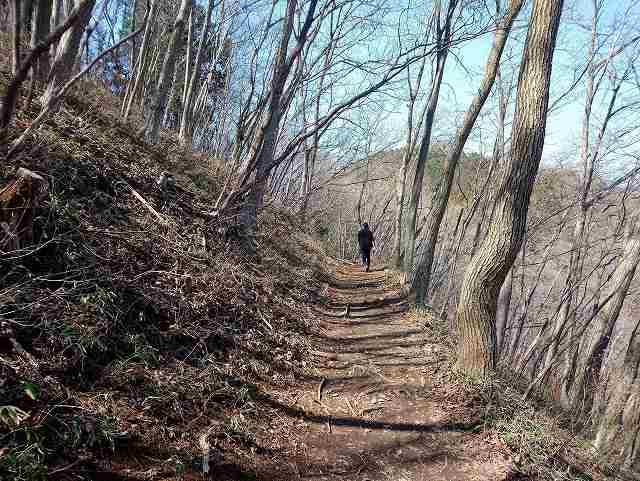 岩茸石山への登山道
