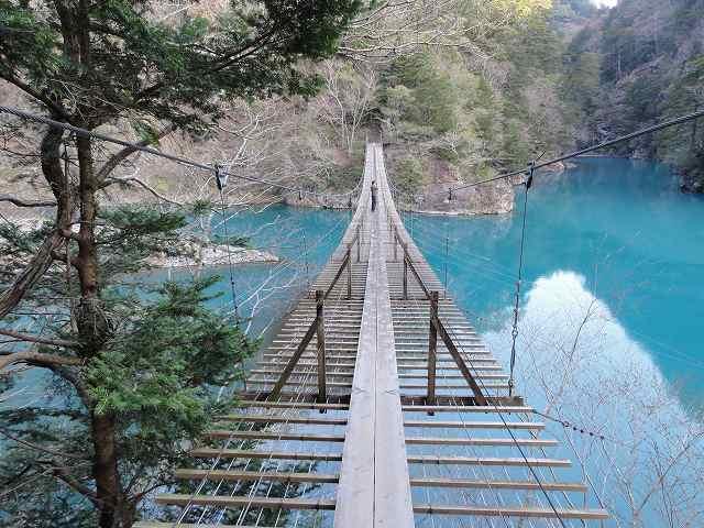 寸又峡「夢の吊り橋」