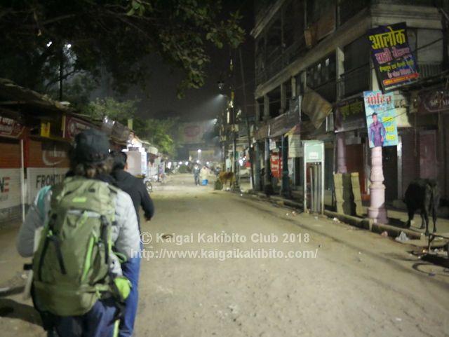 インドの夜道