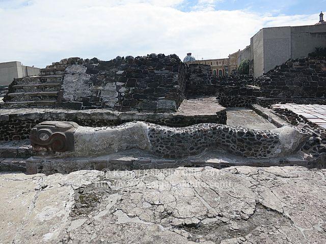 メキシコのテンプロ・マヨール遺跡
