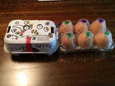 お孫ちゃんの手製エッグケース