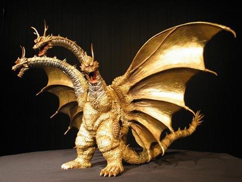 M Arts Grand King Ghidorah Godzilla Resin Model Kit Kits