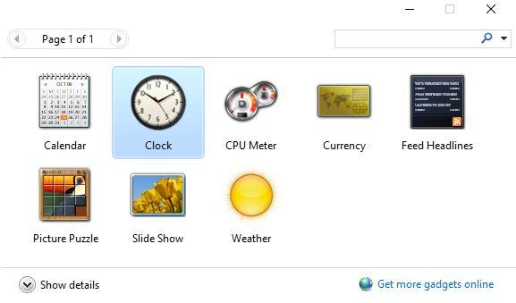 Clock Desktop Gadgets