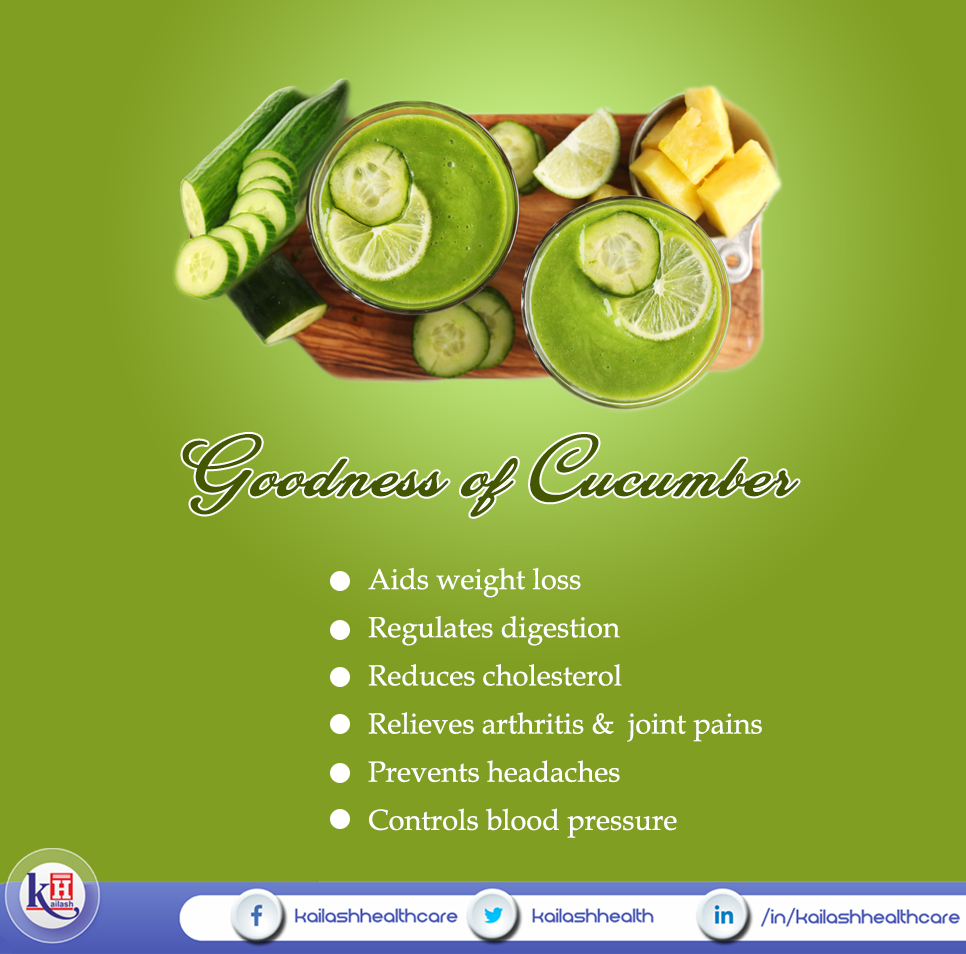 Cucumber has great benefits on our overall health & effective weight loss.