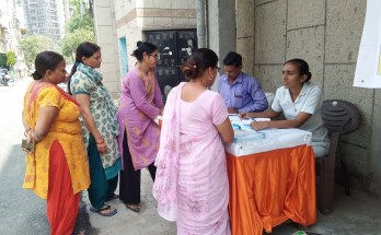 Kailash Hospital Trust Organized a free health check up camp at Vasundhara Sector 4 A