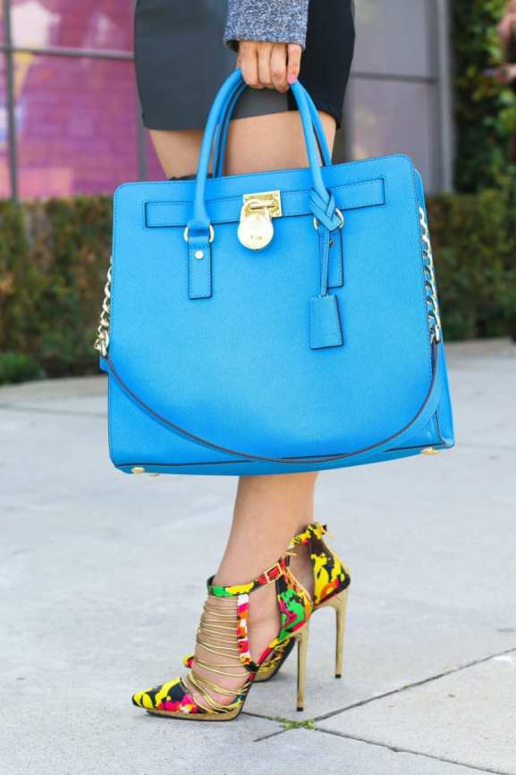 Michael Kors Blue Purse4