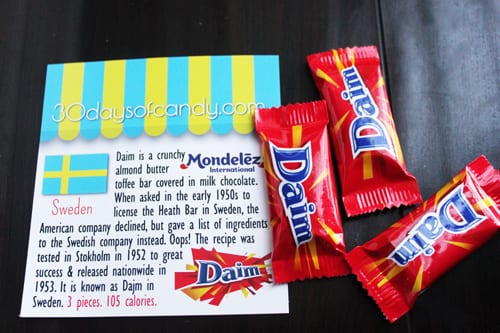 30 days of candy - Sweden Mondelez