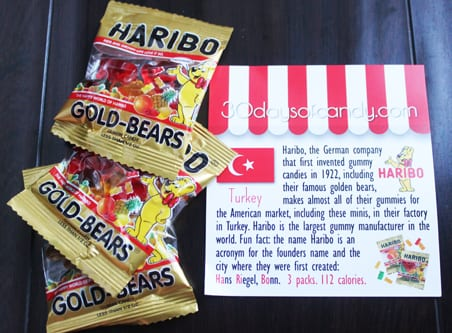 30 days of candy - Turkey Haribo