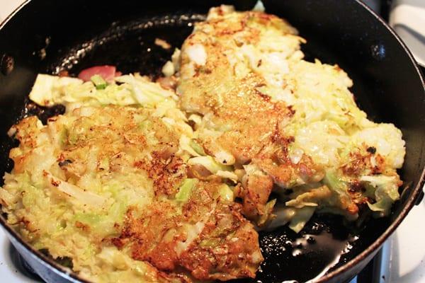 Okonomiyaki Flipped