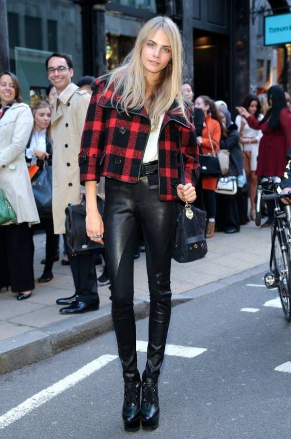 Cara-Delevigne-Flannel-Coats-Leather-Pants