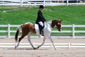 Michelle Anderson and her RPSI mare GBR Ginger Snap. Taken in 2009.