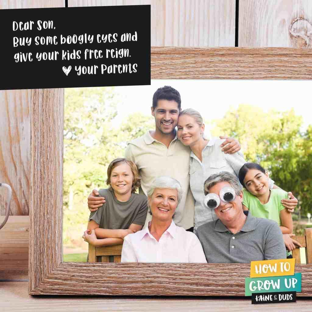 Family Portrait Boogly Eyes