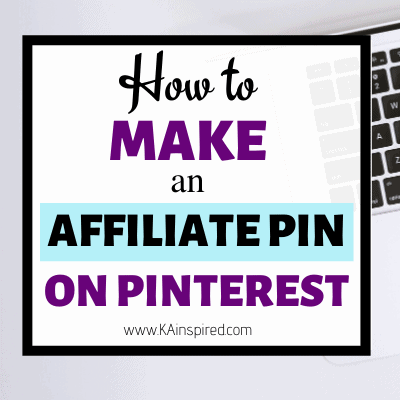 How To Make an Affiliate Pin