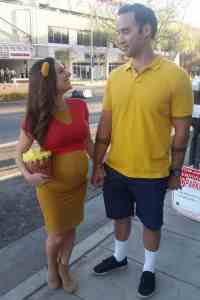 Winnie the Pooh and Christopher Robin Halloween Costume #halloween #halloweencostume #halloweencouplecostume #couplecostume #diycostume #diyhalloween #diyhalloweencostume #KAinspired www.kainspired.com