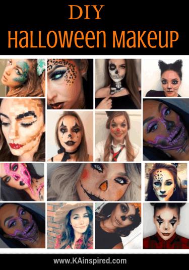 DIY Halloween Makeup Looks #halloween #halloweencostume #diy #diyhalloweencostume #diycostume #makeupideas #halloweencostumes #facepaint #makeup #kainspired