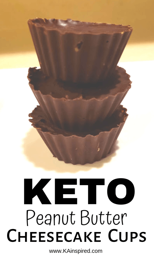 Keto Peanut Butter Cheesecake Cups , desserts, fat bombs #keto #ketodesserts #ketocups  #cheesecake #peanutbutter #peanutbuttercups #cheesecakecups #Ketofatbombs #fatbombs #KAinspired