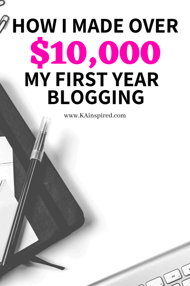 how I made over 10,000 my first year blogging.