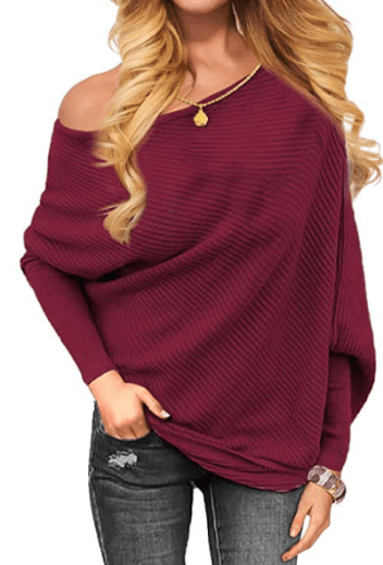 COMFY SWEATER FOR FALL - off the shoulder sweater
