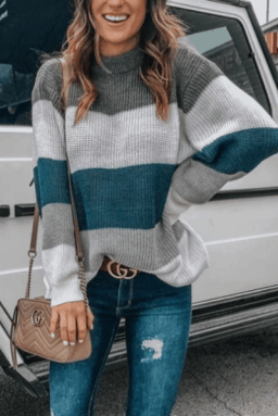 COMFY SWEATER FOR FALL - oversized striped sweater
