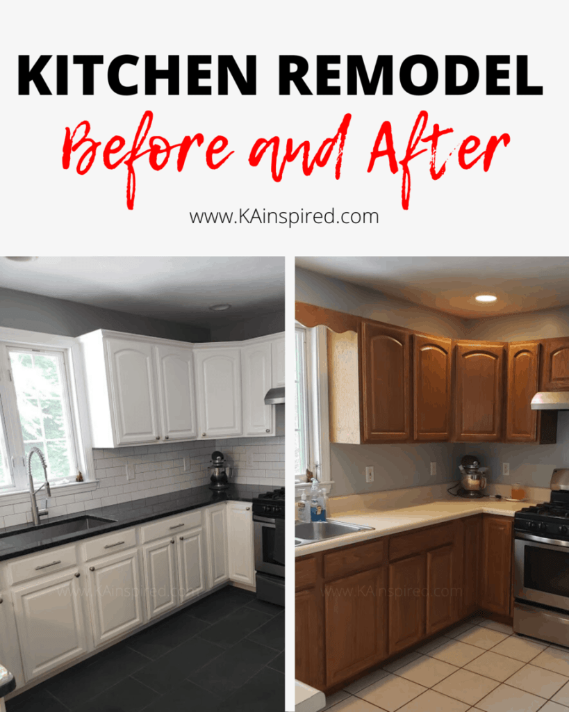 Kitchen  renovation on a budget - kitchen Remodel Before and After