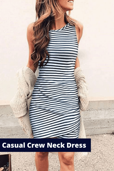casual crew neck dress | summer fashion