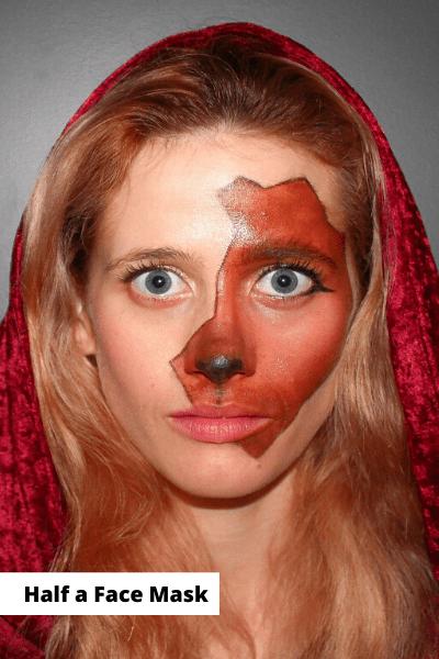 Half a Mask Makeup