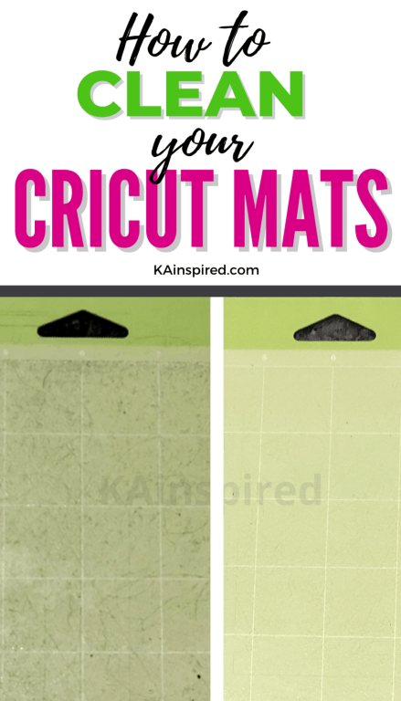 HOW TO CLEAN YOUR CRICUT MATS