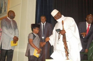 Jammeh showering our scarce resources to people who don't need them/myjoyonline photo