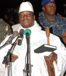 Jammeh at Brufur rally@www.statehouse.gm