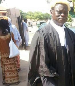 Lawyer Lamin J Darboe at Banjul High court