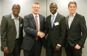 EU Officils with Dr. Amadou Janneh and Alieu Ceesay