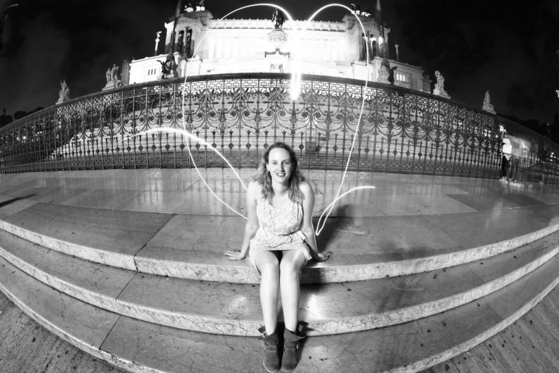 Annemarie im Herzen von Rom