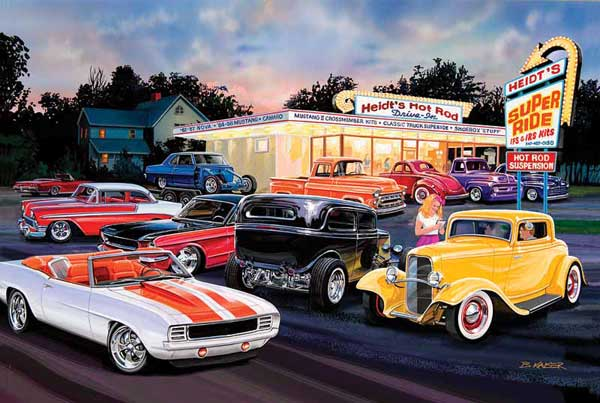 Automotive Art Gallery Paintings Of Cars By Bruce Kaiser