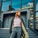 Outfit Spring Look Coat With Pink Sateen Shirt Kaisers Neue Kleider