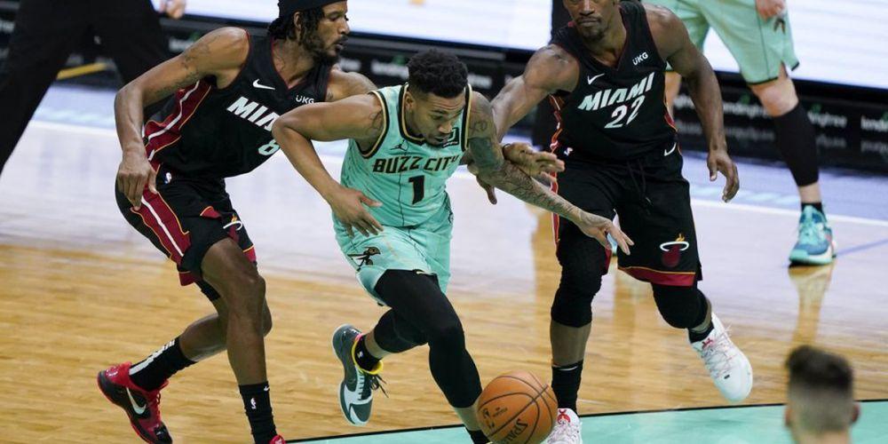 Malik Monk scores 32 as Hornets hold on to beat Heat 110-105